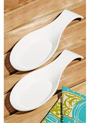 Kitchen Love 2 Adet Seramik 26Cm Yatay Kaşıklık Beyaz